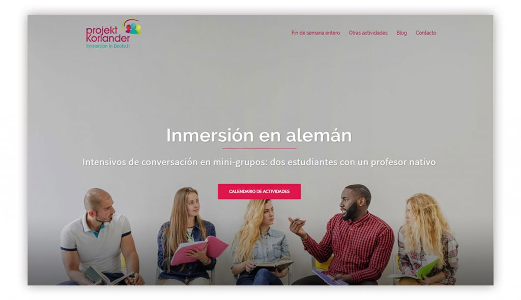 clases wordpress valencia proyecto inmersion linguistica aleman project Koriander